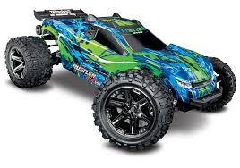 Traxxas 67076-4 Green Rustler 4X4 VXL 1/10 Scale Stadium Truck