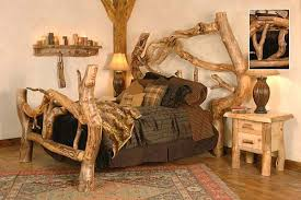 Rustic Log Bed 2