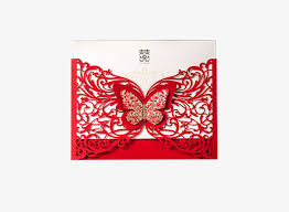 Chinese Paper Cut Butterfly Wedding Invitations Clipart Product Kind Invitation Card