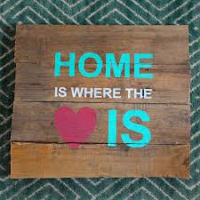 How To Stencil A Pallet Sign Home Is Where The Heart