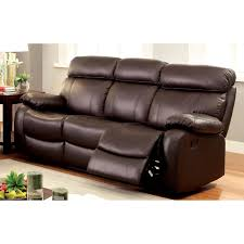 Darrin Leather Reclining Sofa With Console by Abbyson Dominica Top Grain Leather Reclining Sofa Hayneedle