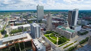 Fort Wayne Indiana Aerial Shots of Iconic Locations