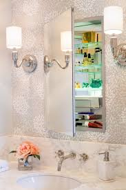 recessed medicine cabinet with lights and outlet home design ideas