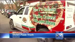 100 Pizza Truck Truck Stolen From South Side Abandoned In Waukegan