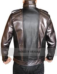 mens biker silver leather jacket fashion clothing store