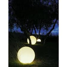 Ex Moon Outdoor Floor Lamp by In Es Art Design