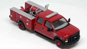 100 Boley Fire Trucks River Point Station 187 HO Scale Ford F550 Crew Cab Brush Truck