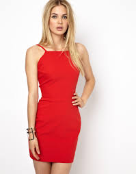 aq aq divine mini dress with strappy low back in red lyst