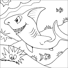 Full Image For Shark Coloring Pages 28 Of Sharks Printable Cool