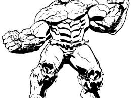Big Muscle Incredible Hulk Coloring Page Ironman