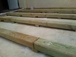 nivrem installer terrasse bois sur dalle beton diverses