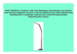 new finether 10w led stehle standle mit gelenk arm