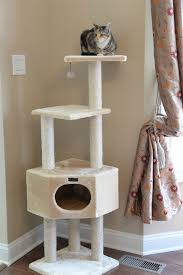 Armarkat Cat Bed by Armarkat Carpet And Covered Cat Tree With Condo Compartment A5201