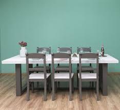 casa padrino landhausstil esszimmer möbel set hellgrau grau 1 esstisch 6 esszimmerstühle massivholz esszimmer möbel landhausstil möbel