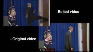 Obama Kicks Door Open Original Video Slow motion parison