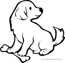 Puppy With A Bone Color Page Animal Coloring Pages Plate Sheet