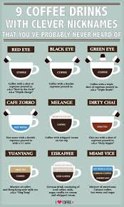 9 Coffee Drinks With Clever Nicknames That Youve Probably Never Heard Of