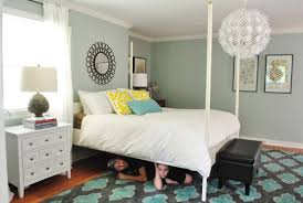Ikea Edland Bed by Cutting The Posts Off Our Canopy Bed Young House Love