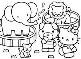 Hello Kitty Coloring Pages 04 Of 15 In The Zoo