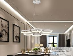 Led Contracted Sitting Room Lights Creative Personality Dining Lamp Acrylic Lamps And Lanterns Is Circular Pendant 9 Ceiling Light Shades