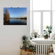 artland wandbild morgens am see gewässer 1 st in vielen größen produktarten leinwandbild poster wandaufkleber wandtattoo auch für