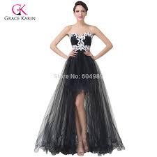 popular black lace short front long back short prom buy cheap