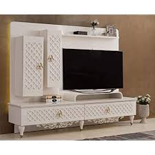 casa padrino barock tv schrank weiß gold schwarz 235 x 52 x