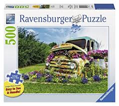 Ravensburger Flower Truck Large Format Jigsaw Puzzle 500 Piece