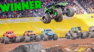 100 Monster Trucks Atlanta Energy WINNING Freestyle Run Jam 2019
