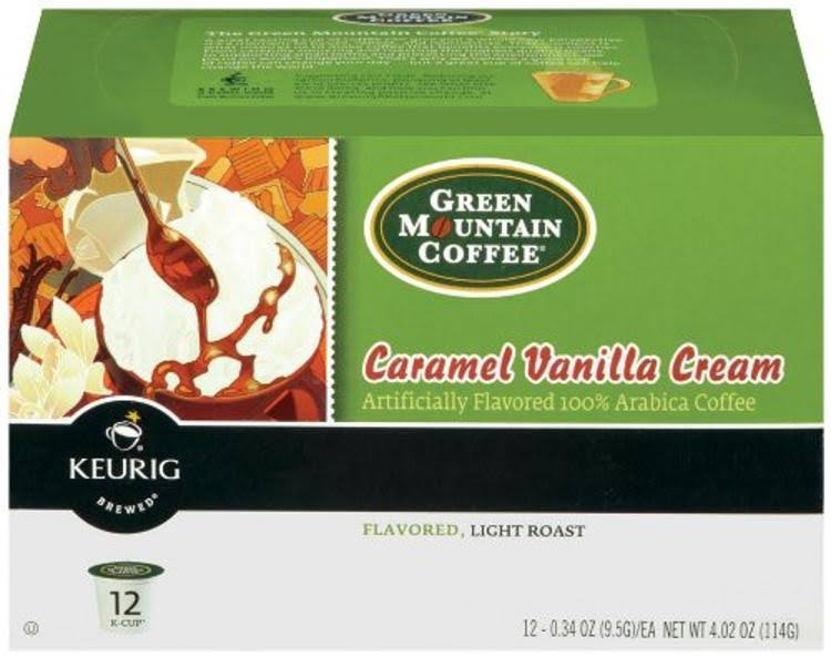 Green Mountain Coffee K-Cup - Caramel Vanilla Cream, 12ct