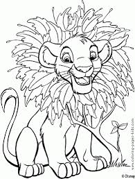 Coloring For Kids Free Disney Pages Lion King At Simba Needs Help Rafiki The Monkey