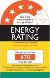 A Typical Energy Rating Label