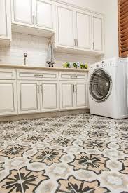 Ethnic Patterned Ceramic Vinyl Tile Flooring For Kitchens Artenzo