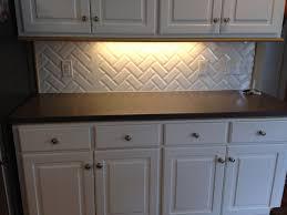 Herringbone Backsplash Tile Home Depot by Arizona Tile Beveled Subway Tile In Herringbone Pattern Gout From