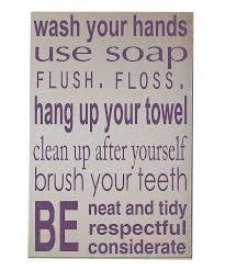 Elegant Zulily Vinyl Crafts Sale Purple Bathrooms Bathroom Rules And Walls Wall Decor
