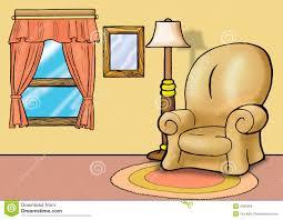 sofa im wohnzimmer stock abbildung illustration fenster