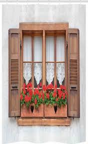 abakuhaus duschvorhang badezimmer deko set aus stoff mit haken breite 120 cm höhe 180 cm boho europäische landfensterläden kaufen otto