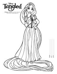 Stunning Ideas Coloring Pages Rapunzel Colouring Tangled
