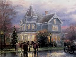 Thomas Kinkade Christmas Tree Cottage by Thomas Kinkade Whatiwishicoulddo Weebly Com