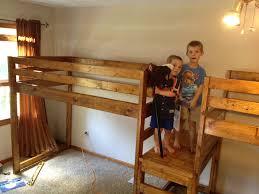 Diy Queen Loft Bed by Double Loft Bed Plans Ainsley U0027s Room Pinterest Double Loft