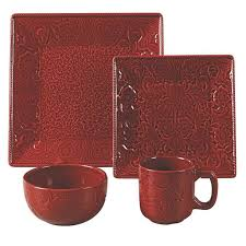 Red Western Style Dinnerware Kitchen And Dining Decor