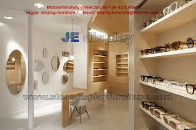 Maple Wood Furniture In Wall Cabinets Light Color For Sunglass Store Display Fixture With Storage Drawers