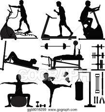 Men Clipart Gym Workout Clip Art Royalty