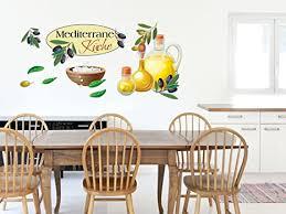 grazdesign wandtattoo küche mediterran oliven küchentattoo aufkleber set 150x57cm