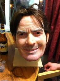 Halloween Mask William Shatners Face by Terrifying Celeb Disguises Charlie Sheen Mask