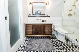 Midcentury Modern Bathroom Before & After - Irwin Construction Small Mid Century Modern Bathroom Elegant Inspired 37 Amazing Midcentury Modern Bathrooms To Soak Your Nses Design Vanity Hd Shower Doors And Paint In Remodel Floor Tile Best Of Ideas For Best Mid Century Bathroom Style Project Sewn With Metro Curtain 74 Most Magic Transform On Interior