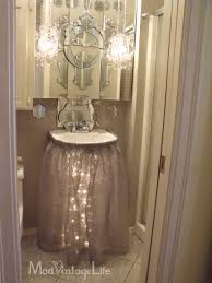 Ikea Fullen Pedestal Sink by Great Way To Dress Up A Pedestal Sink Before A Party Or For Year