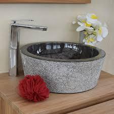 vasque à poser ronde en marbre ø 40 cm