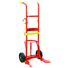 100 Drum Hand Truck Deluxe 10 Polyolefin Wheels For Poly S