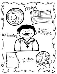 Martin Luther King Jr Coloring Pa Project For Awesome Pages